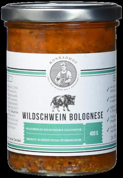 Wildschweinbolognese