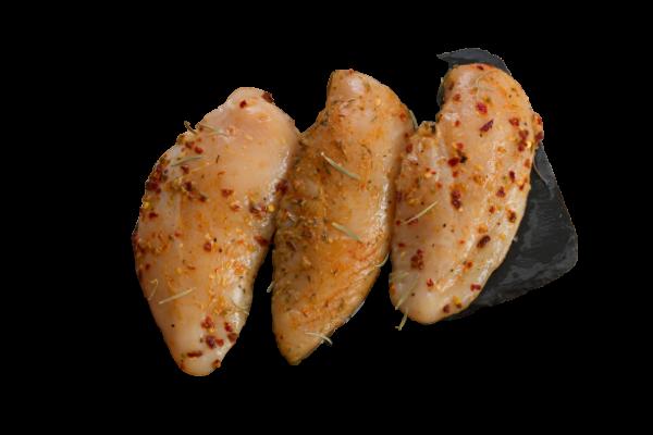 Hähnchenfiletsteak rot mariniert 3 Stück